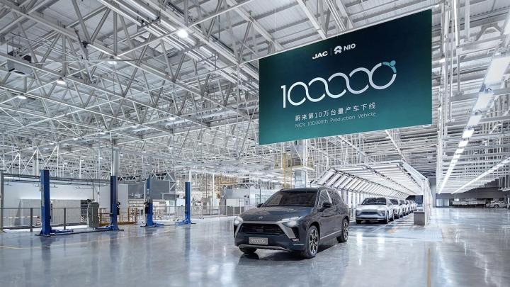 100-tysięczny pojazd NIO zjeżdża z linii produkcyjnej