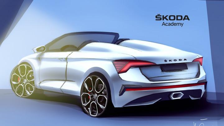 Akademia SKODY wznawia pracę nad samochodem koncepcyjnym SCALA w wersji Spider