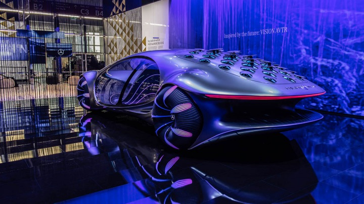 Mercedes-Benz VISION AVTR obsługa pojazdu za pomocą myśli