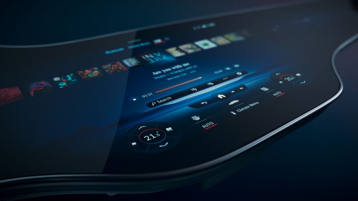 Unikalny Hyperscreen w nowych modelach Mercedes