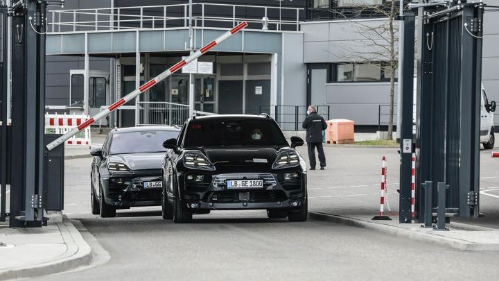 Prototypy całkowicie elektrycznego Porsche Macan na testach drogowych