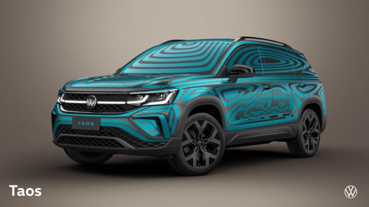Volkswagen prezentuje nowy model Taos na zdjęciach w żywym kamuflażu
