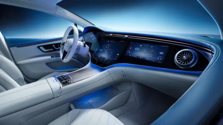 Nowy Mercedes-Benz EQS niesamowite wnętrze