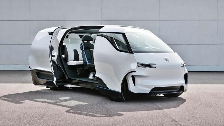 Porsche Vision Renndienst, minivan od Porsche?