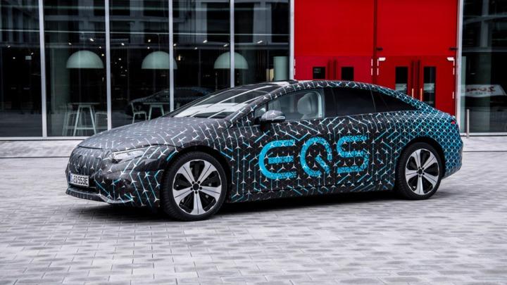 Mercedes EQS pierwsze jazdy testowe przed premierą