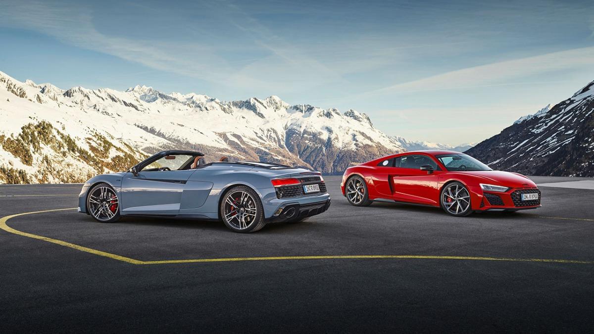 Audi R8 V10 performance RWD, Coupé i Spyder