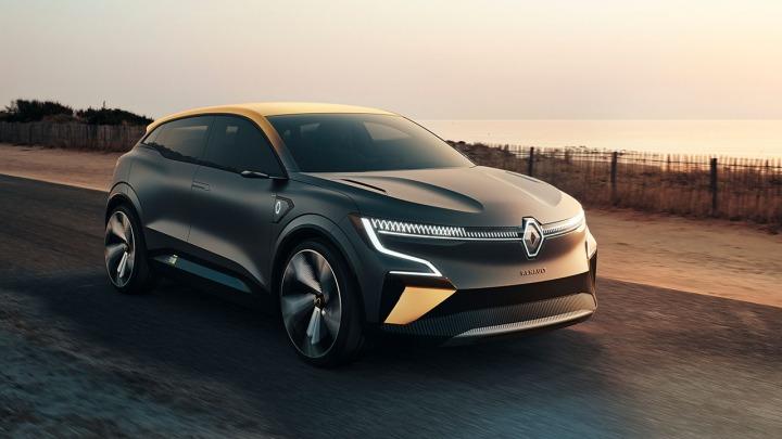 Renault Megane Evision przyszłość samochodu elektrycznego