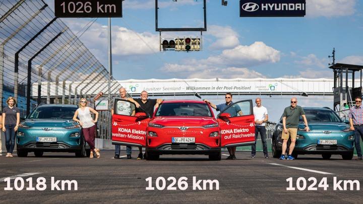 Hyundai Kona Electric ustanowił rekord zasięgu pokonując 1026 km